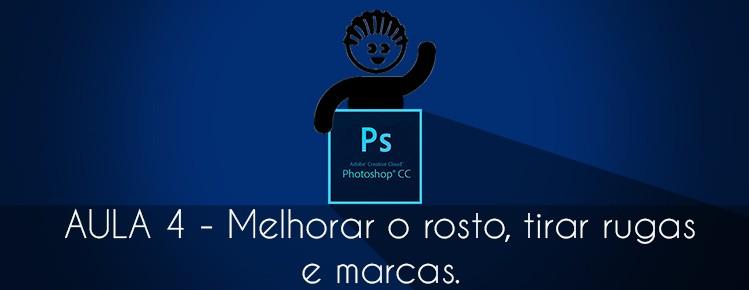 Photoshop CS6 Aula 04 Como Melhorar rosto tirar rugas marcas editar imagem